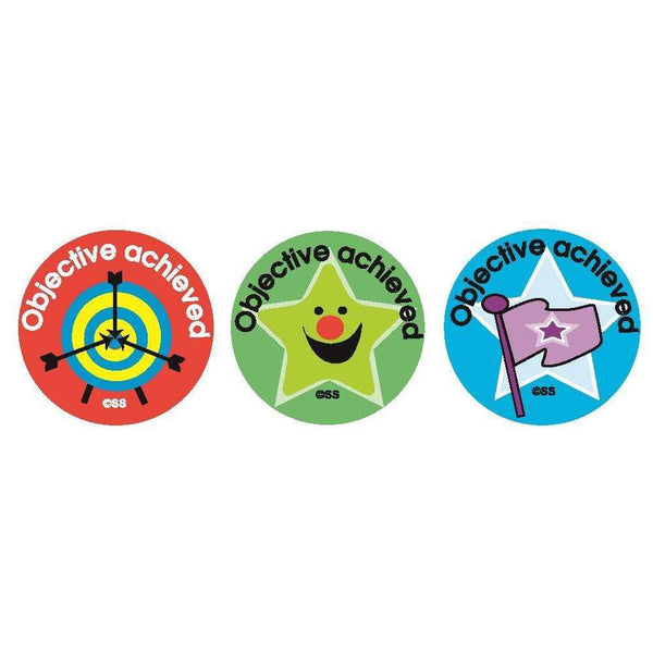 Objective Achieved Stickers - 25mm circular:Primary Classroom Resources