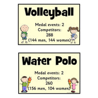Olympic Events Cards