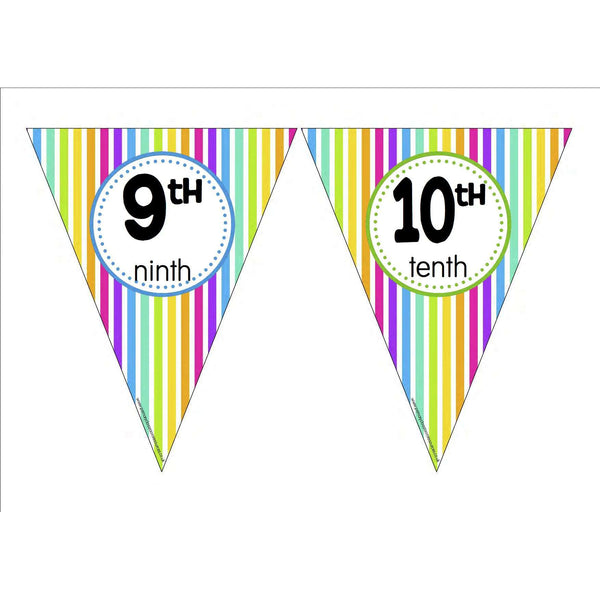 Ordinal Number Bunting:Primary Classroom Resources