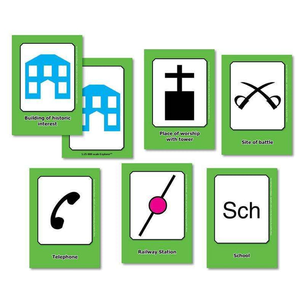 OS Map Symbols Flashcards:Primary Classroom Resources