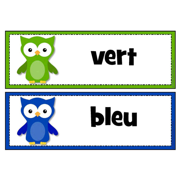 Owl Colours - French