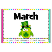 Owl Months of the Year Posters with explanations:Primary Classroom Resources