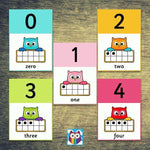 Owl Themed Number Posters 0 - 20:Primary Classroom Resources