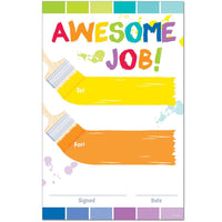Painted Palette - Awesome Job Award Certificates