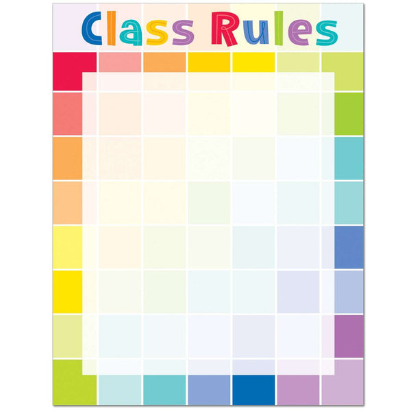 Painted Palette Class Rules Chart Poster