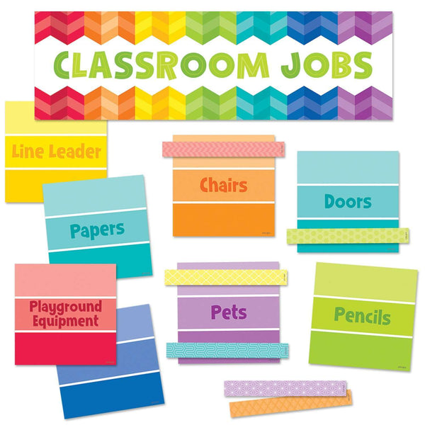 Painted Palette Classroom Jobs Mini Display Set