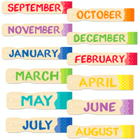 Painted Palette Months of the Year Classroom Display Headlines:Primary Classroom Resources