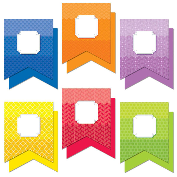"Painted Palette Pennants 10"" Designer Cut Outs:Primary Classroom Resources"