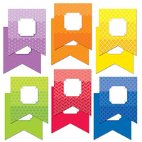 "Painted Palette Pennants 6"" Designer Cut Outs:Primary Classroom Resources"