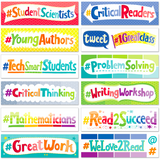 Painted Palette Social Media Motivators Classroom Display Headlines:Primary Classroom Resources