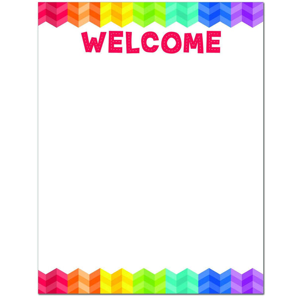 Painted Palette Welcome Chart Poster