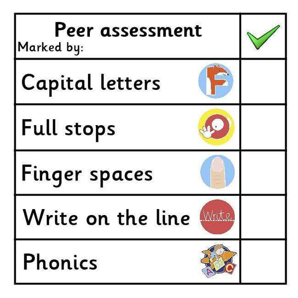 Peer Assessment Marking Stickers - Set 3