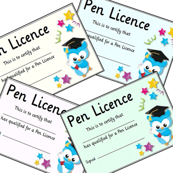 Pen Licence Certificates