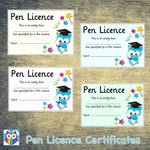 Pen Licence Certificates:Primary Classroom Resources