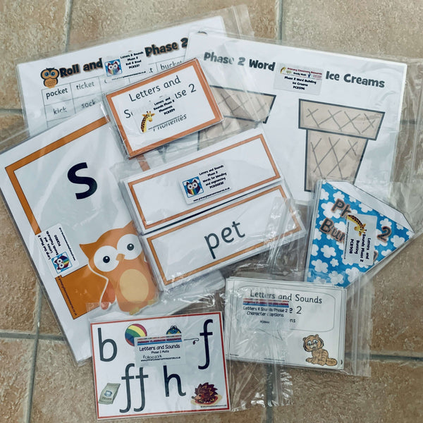 Phase 2 Letters and Sounds Resource Pack:Primary Classroom Resources