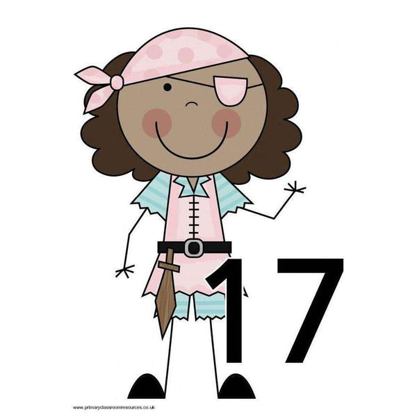 Pirate Numbers 11 to 20 Posters