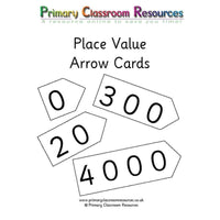 Place Value Arrow Cards:Primary Classroom Resources