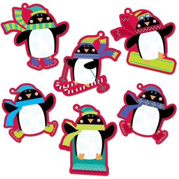 "Playful Penguins 6"" Designer Cut Outs"