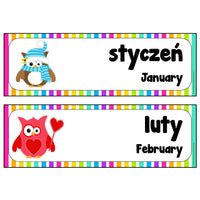 Polish-English Months Cards:Primary Classroom Resources