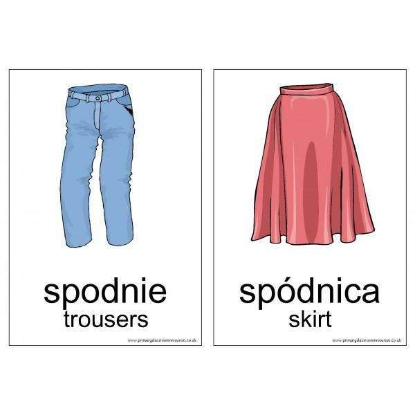 Polish Vocabulary Cards - Clothes