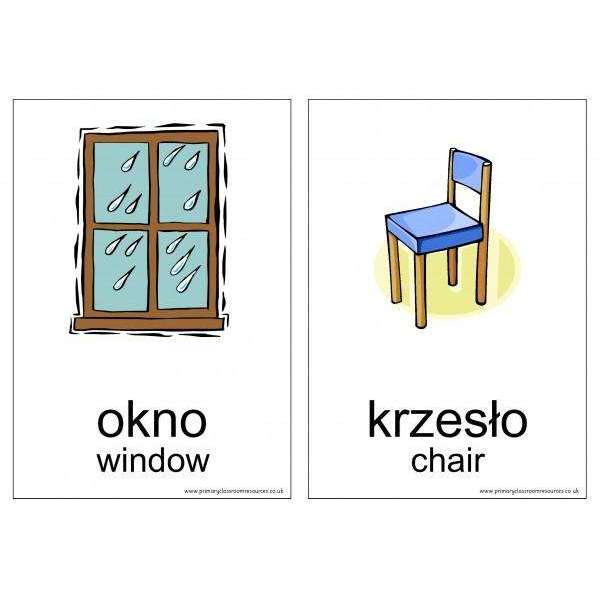 Polish Vocabulary Cards - In the Home:Primary Classroom Resources