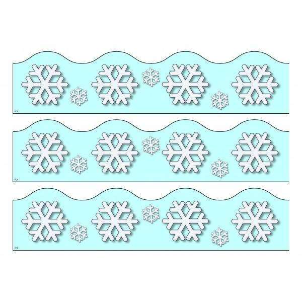 Print Your Own Display Border - Snowflakes