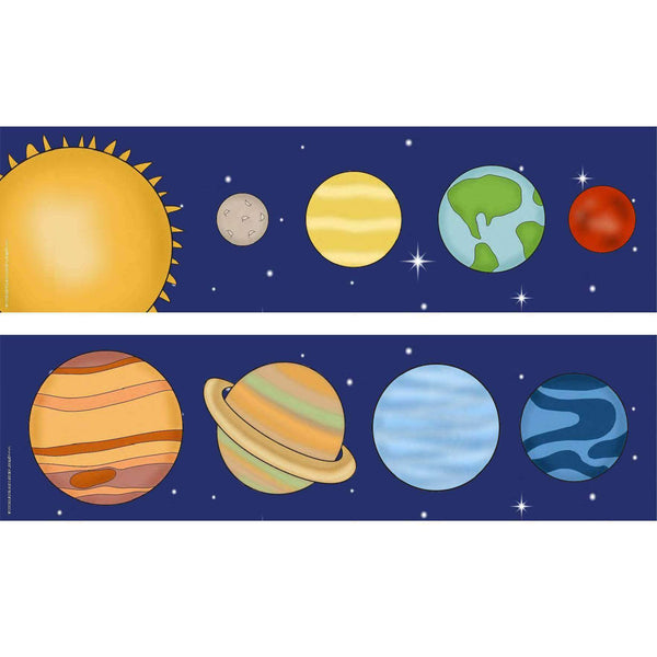 Print Your Own Display Borders - Solar System:Primary Classroom Resources