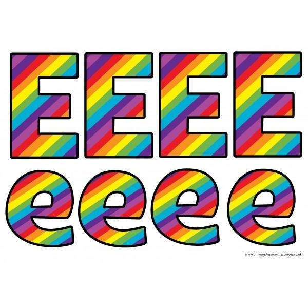 Print Your Own Rainbow Display Lettering Pack:Primary Classroom Resources