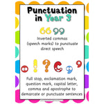 Punctuation in Year 3:Primary Classroom Resources