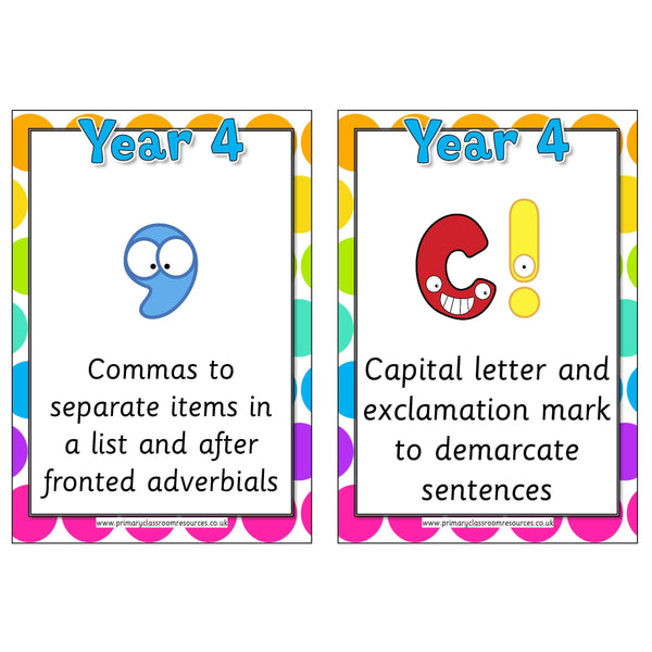Punctuation in Year 4:Primary Classroom Resources