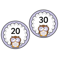 Purple Owl Numbers 0-20 plus 10s to 100:Primary Classroom Resources