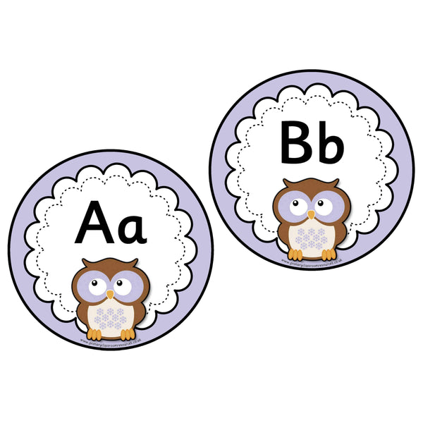 Purple Owl Word Wall Headers:Primary Classroom Resources
