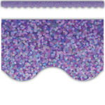 Purple Sparkle Scalloped Classroom Display Border:Primary Classroom Resources