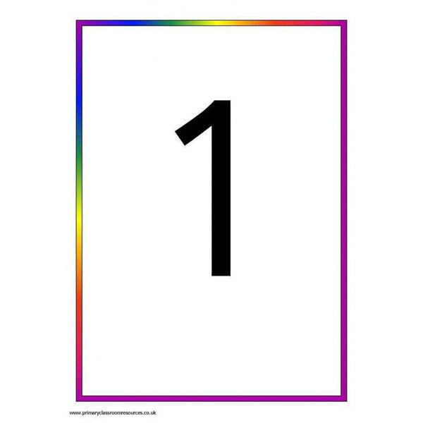 Rainbow 0-100 Number Cards:Primary Classroom Resources