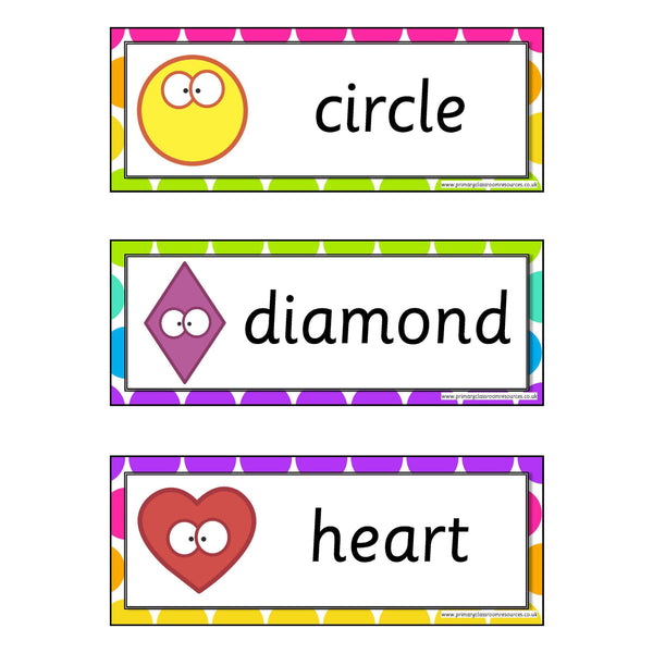 Rainbow 2D Shapes Flashcards