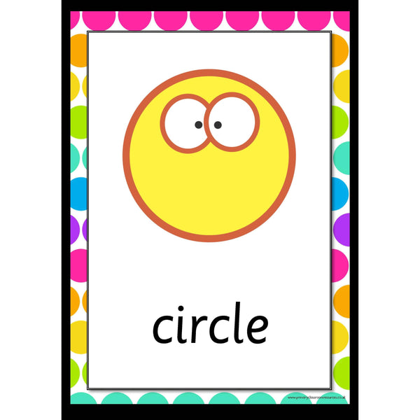 Rainbow 2D Shapes Posters