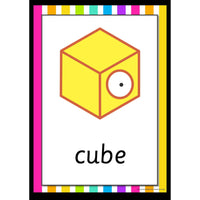 Rainbow 3D Shapes Posters:Primary Classroom Resources
