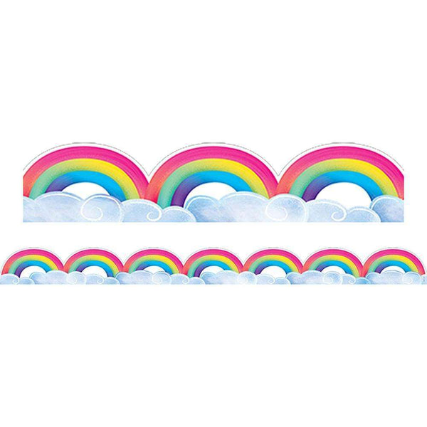 Rainbow and Clouds Display Border:Primary Classroom Resources