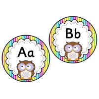 Rainbow Stripe Owl Word Wall Headers:Primary Classroom Resources