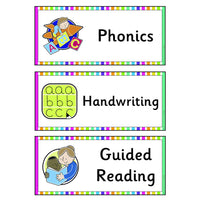Rainbow Visual Timetable:Primary Classroom Resources