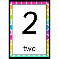 Rainbow Whiteboard 0-20 Number Posters:Primary Classroom Resources