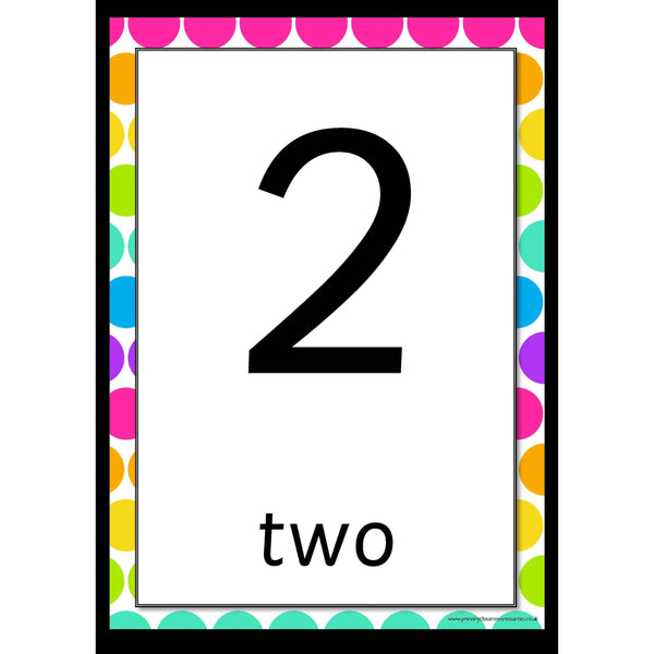 Rainbow Whiteboard 0-20 Number Posters