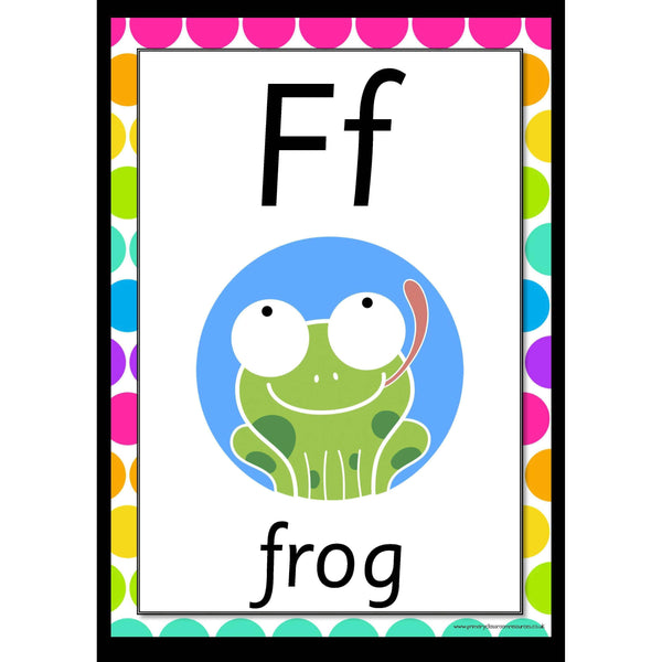 Rainbow Whiteboard Alphabet Posters:Primary Classroom Resources