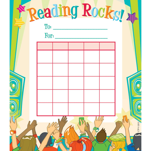 Reading Rocks Student Incentive Chart:Primary Classroom Resources