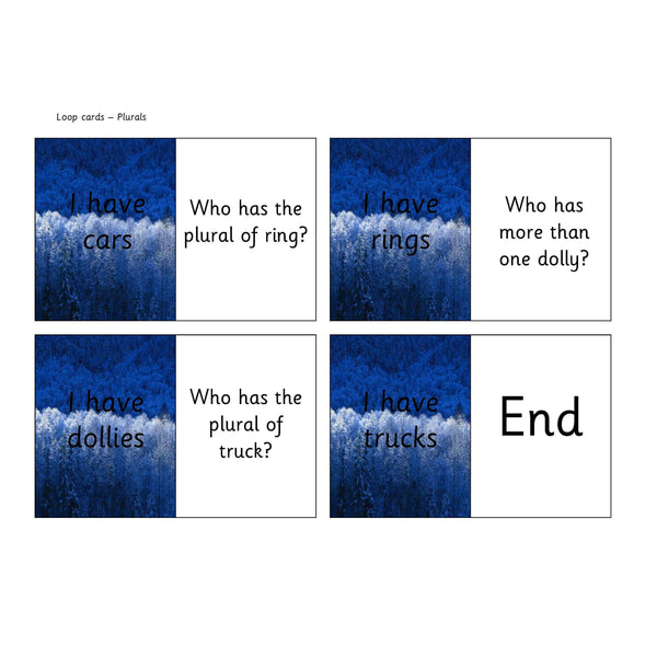 Regular Plurals Loop Cards