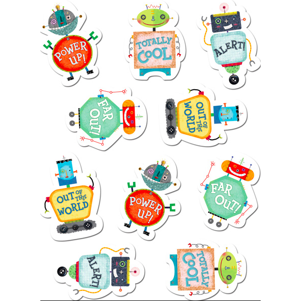 Riveting Robots Classroom Reward Stickers:Primary Classroom Resources