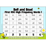 Roll and Read - Letters and Sounds 100 High Frequency Words:Primary Classroom Resources