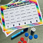 Roll and Read/Spell - Year 3 & 4 Common Exception Words:Primary Classroom Resources