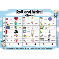 Roll and Write - Objects:Primary Classroom Resources