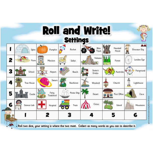 Roll and Write - Settings